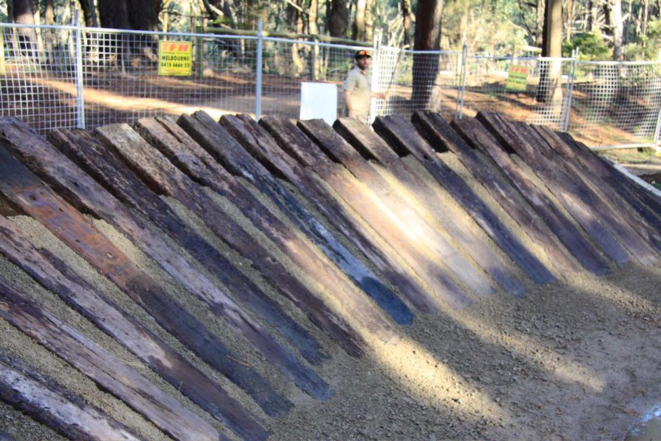 Red Hill Skills Park Timber Wall